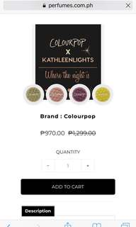 Colourpop Kathleen lights brand new