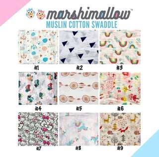 🚚 [Ready Stock] Baby Muslin Cotton Swaddle