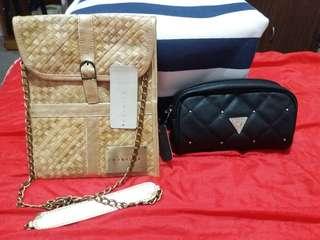 MALDITA SLING BAG & GUESS POUCH