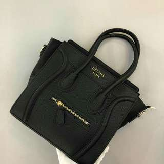 Celine Nano Tote Bag Black Color