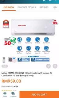 (NEW) Media 1.0hp Inverter Air Conditioner set