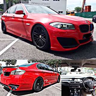 SAMBUNG BAYAR / CONTINUE LOAN  BMW F10 523i(RED) AUTO YEAR 2010