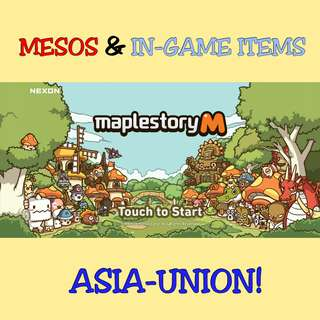 MapleStory M Mesos & In-Game Items [ Asia & America Server ]