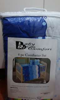 4pc crib comforter set with another 4pc set (no brand)