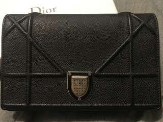 Dior - Diorama wallet on chain WOC - black leather
