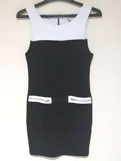 B/W Bodycon Dress