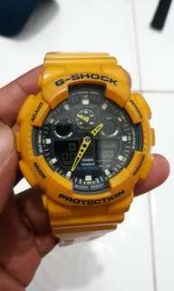 G shock kuning bumbble bee GA 100 asli original 100%