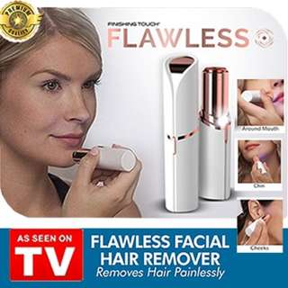 🚚 Flawless Facial Painless Hair Remover Lipstick Personal Shaver (As Seen On TV!)