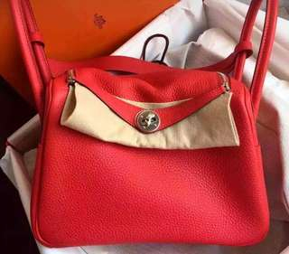 ✨Brand new🐴Hermes Lindy26🍅蕃茄紅全新現貨✨