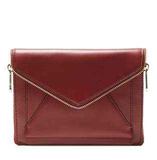 Rebecca Minkoff burgundy clutch/crossbody bag