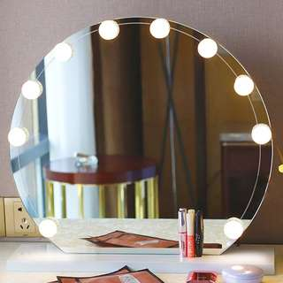 (PO)Vanity Makeup 10/12 LED Bulbs ..(note: mirror nt included)(Ai)