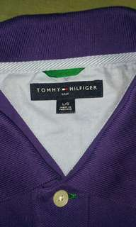 Authentic Tommy Hilfiger Purple Polo Shirt