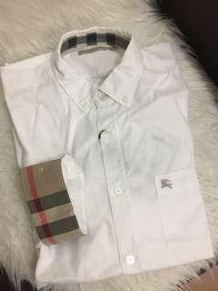 Burberry男裝白色shirt