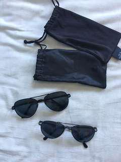 BN Black Aviator Sunglasses