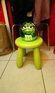 全新M&M's綠M電鍍陶瓷罐/儲物罐