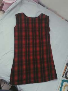 Loose tartan dress