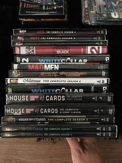 Used DVD collection - Suits house of cards