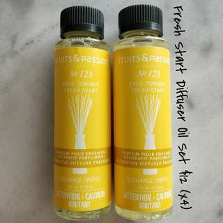 Fruits and Passion: Fresh Start Diffuser Oil x4