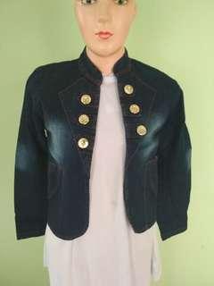 (NEW Sale cuci gudang) Outer blazer denim 2 (macam model)