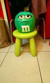 M&M's綠M大陶瓷罐/儲物罐