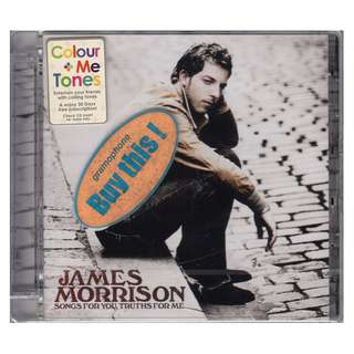James Morrison: <Songs For You, Truths For Me> 2008 CD (Brand New)
