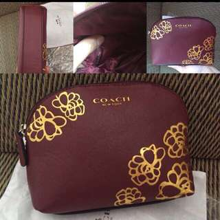 FREE POSTAGE-Authentic Couch Pouch Clutch Make Up Bag