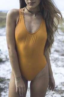 One piece Yellow Swimsuit