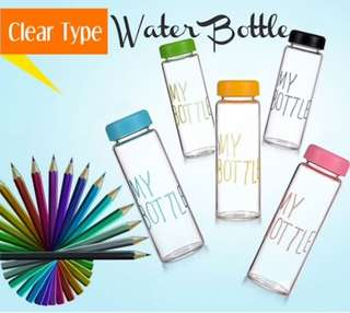 Water Bottle 500ml *Clear-Black* *Free Normal Mail*