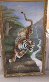 Canvas tiger painting