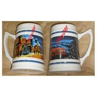 8 Pcs Anchor Beer Porcelain Drinking Mug (Ht: 14cm - New