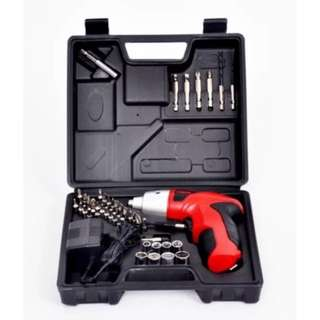 Electric Automatic Rechargeable Screwdriver Tool Set