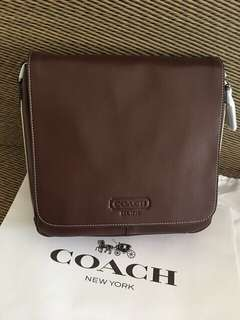 Authentic Coach Genuine Leather Map Sling Bag