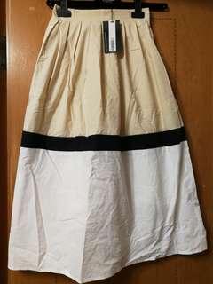 韓版罕見拼色Skirt ,free size