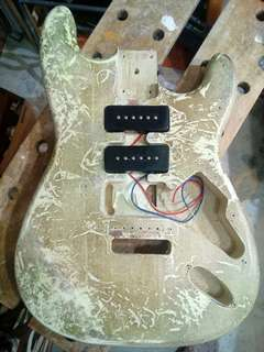 Basswood Guitar Body routed to fit P90s