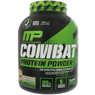 SALE MusclePharm, Combat Protein Powder, Cookies 'N' Cream, 64 oz (1814 g)