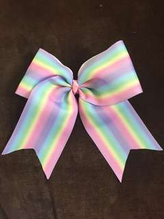 Hair bow pastel rainbow