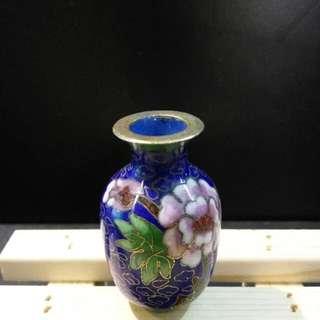 景泰藍 5公分小花瓶 古董 收藏品 禮物