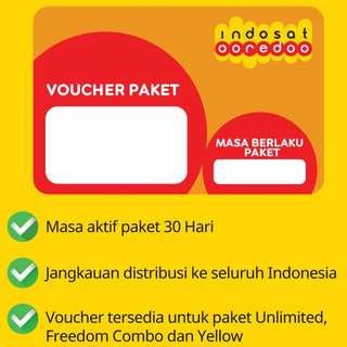 Voucher Indosat Unlimited 10GB