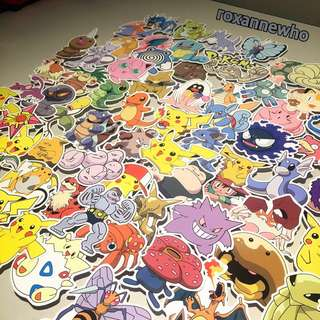 Assorted Waterproof Pokemon Luggage Laptop Stickers