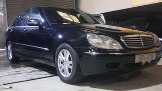 2002年Benz s320 加長型無待修 售12.9萬