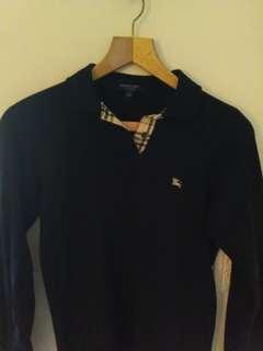 Burberry woman blue long polo shirt