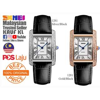 SKMEI 1281 Ori Lady Women Watch Jam Tangan Wanita Design Like Casio Fossil
