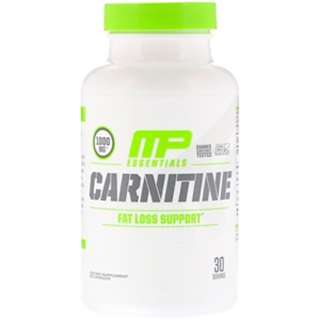 SALE MusclePharm, Essentials, Carnitine, 1000 mg, 60 Capsule