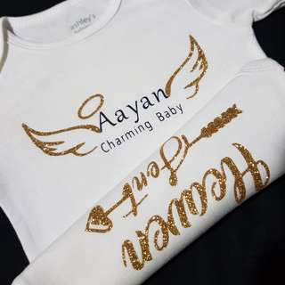 🚚 Design and Customise Baby Romper/Onesies for Little One