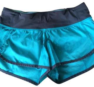 Lululemon Blue Wash Run Short