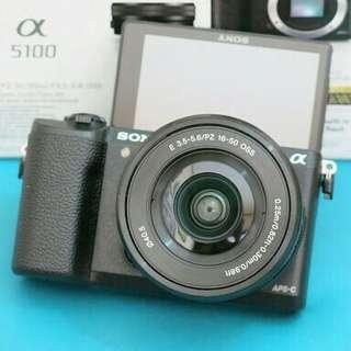 Jual kamera sony a5100 lengkap, terbaru, original