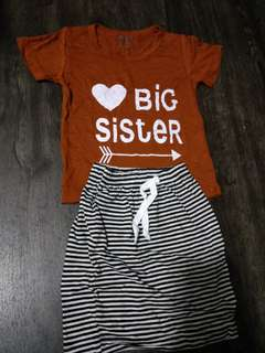 Brand New Carter's big sister set