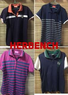 Polo shirt-herbench sale from 90 now at 70 pesos