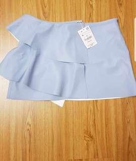 Zara Pastel Blue Skirt