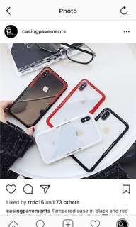 Tempered Glass case for iPhone